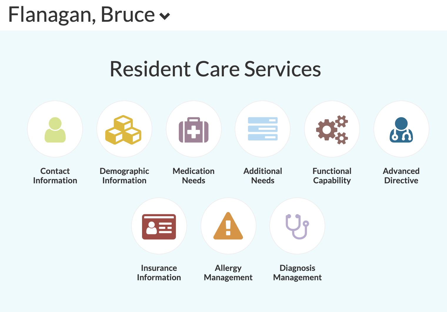 Resident Profile for Care Solutions